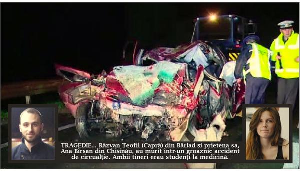 Tragedie cumplitã: un student eminent din Bârlad, mort într-un groaznic accident