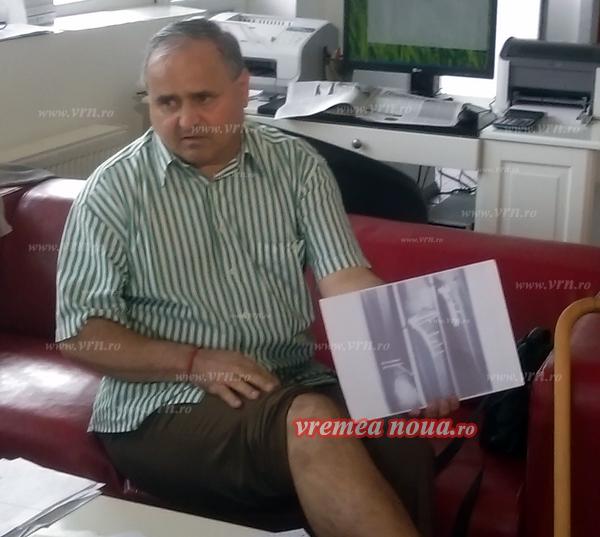 Chinurile unui husean care a rãmas cu un handicap dupã un accident de muncã
