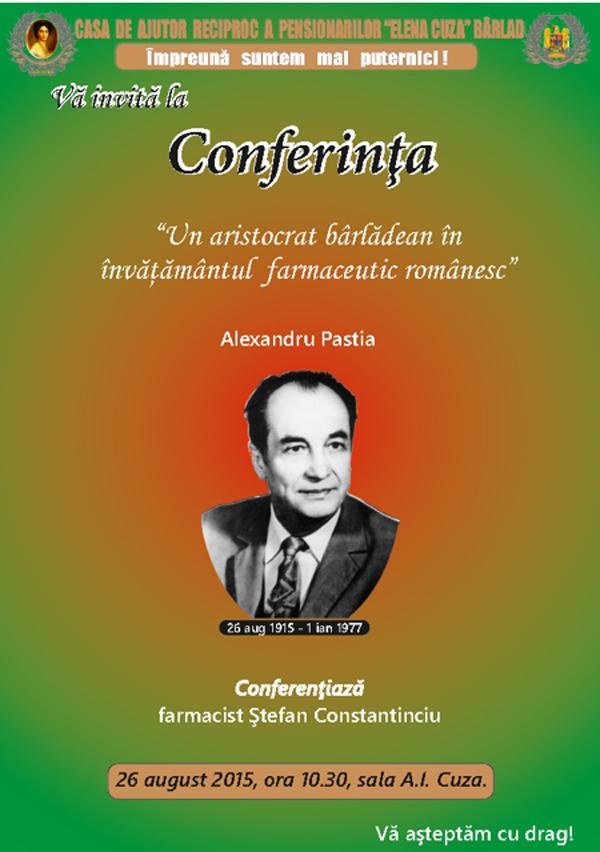Alexandru Pastia, renumit farmacist