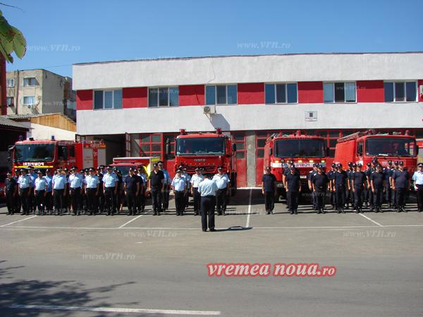 Pompierii vasluieni au dat onorul eroului de la Constanta