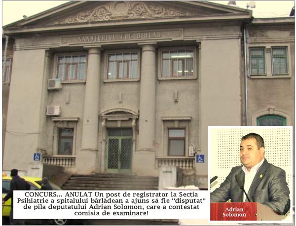 Concurs anulat din cauza pilelor, la spitalul din Bârlad