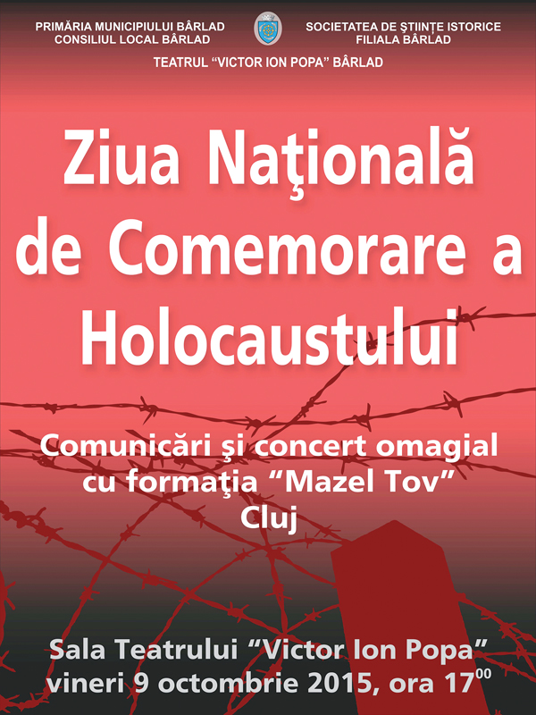 Bârlãdenii comemoreazã pentru prima datã Holocaustul! (video)