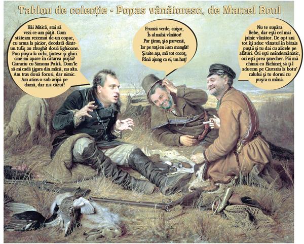 Vânãtoarea cea de tainã cu Miticã, Dan si Bichinet (pamflet)
