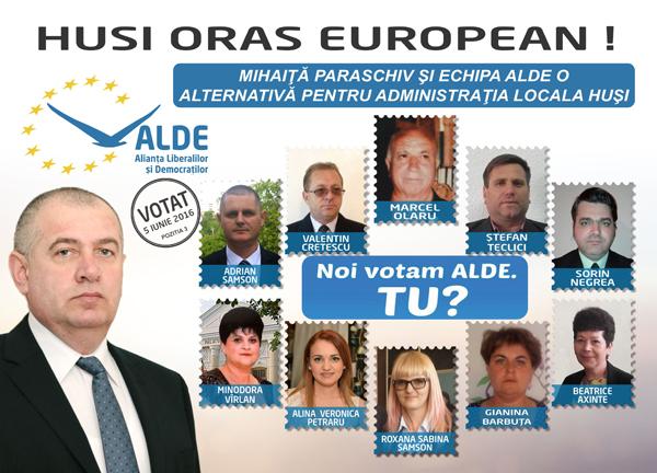 Echipa ALDE Husi, consilieri cu multã experientã administrativã