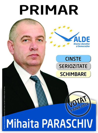 Mesajul candidatului ALDE, Mihãitã Paraschiv, cãtre huseni