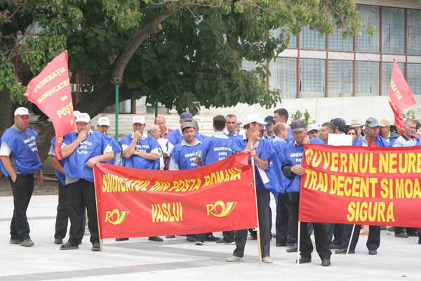 Ajunsi la capãtul rãbdãrii, postasii au intrat în grevã