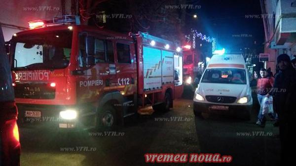Incendiu într-un apartament din zona Stadion din Bârlad (foto)