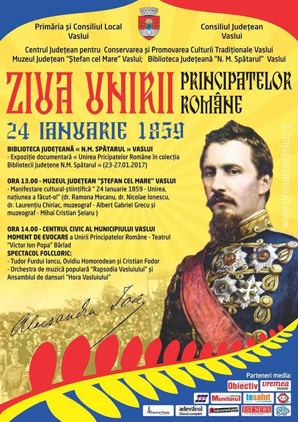 Spectacol în Piata Civicã din Vaslui, de Ziua Principatelor Unite ale României