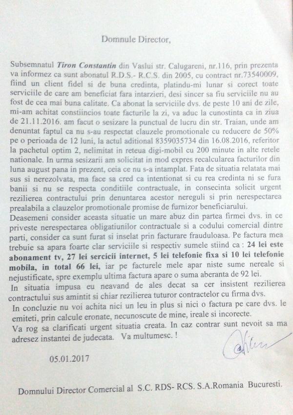 Acuzatii grave: RCS – RDS nu-si respectã promisiunile!