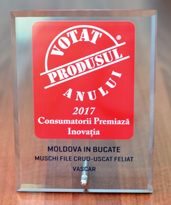 Muschiul file crud uscat de la Vascar a câstigat premiul Produsul Anului 2017