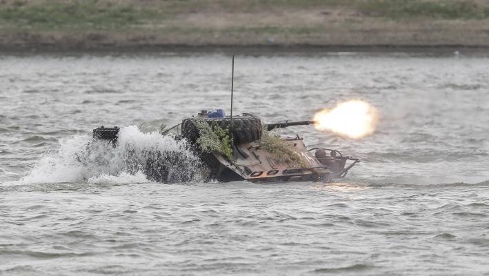 TAB scufundat în Dunăre în timpul unui exerciţiu NATO. UPDATE