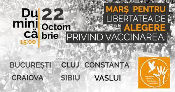 Protest în Vaslui, pentru libertatea de alegere privind vaccinarea