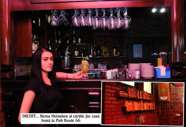 Pub nou în centrul Vasluiului, cu rafturi de cãrti si bere Heineken
