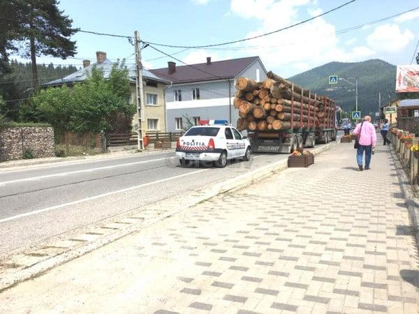 Polițiștii din Câmpulung au amendat cu 500 de lei o tânără care a semnalat la 112 un posibil furt de lemne