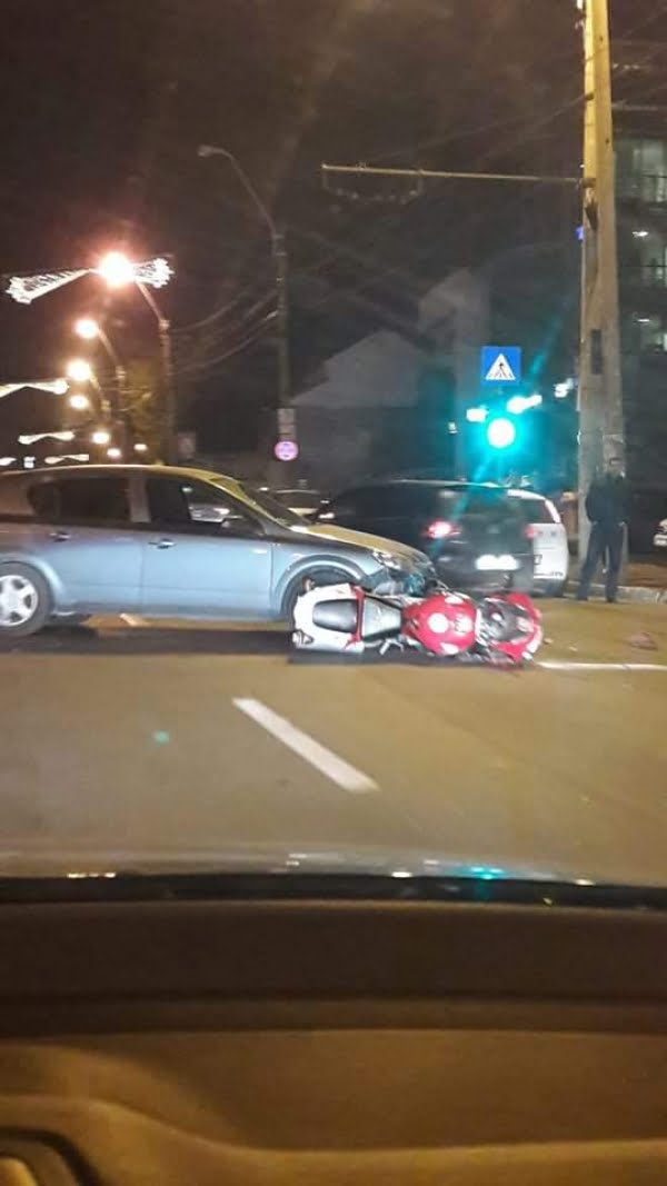 Motociclist accidentat pe str. Brăilei