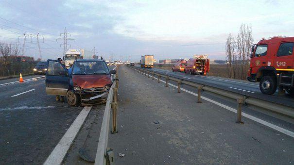 ACCIDENT GRAV pe Autostrada București-Pitești. Sunt 11 VICTIME. CIRCULAȚIA OPRITĂ pe A1