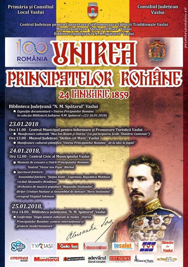 Manifestãri culturale, expozitionale si muzicã popularã  de Ziua Unirii Principatelor Române