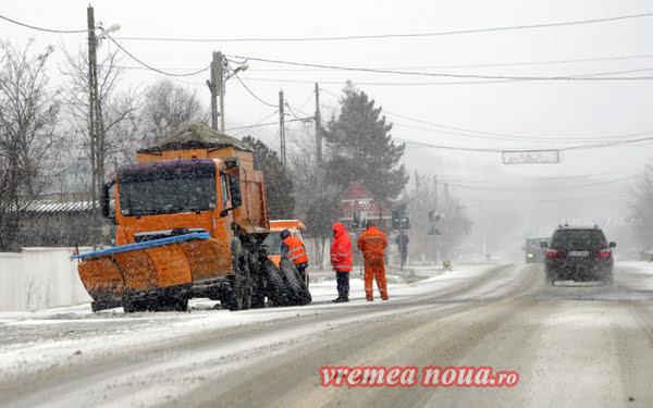 Alertã de vreme rea: ninsori si viscol la Vaslui!