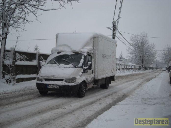 Situația în județul Bacău în urma căderilor de zăpadă