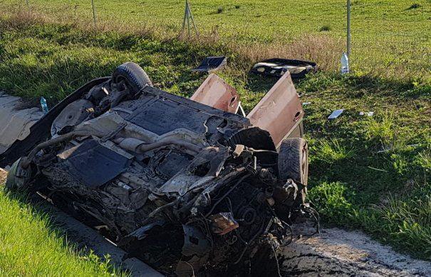 Accident cumplit pe A1. O persoană a murit pe loc, trei au fost duse cu elicopterul SMURD la spital I