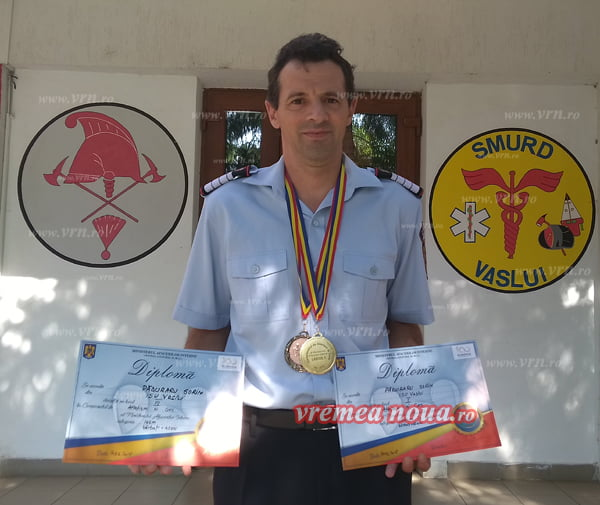Douã medalii pentru pompierul Sorin Pãduraru