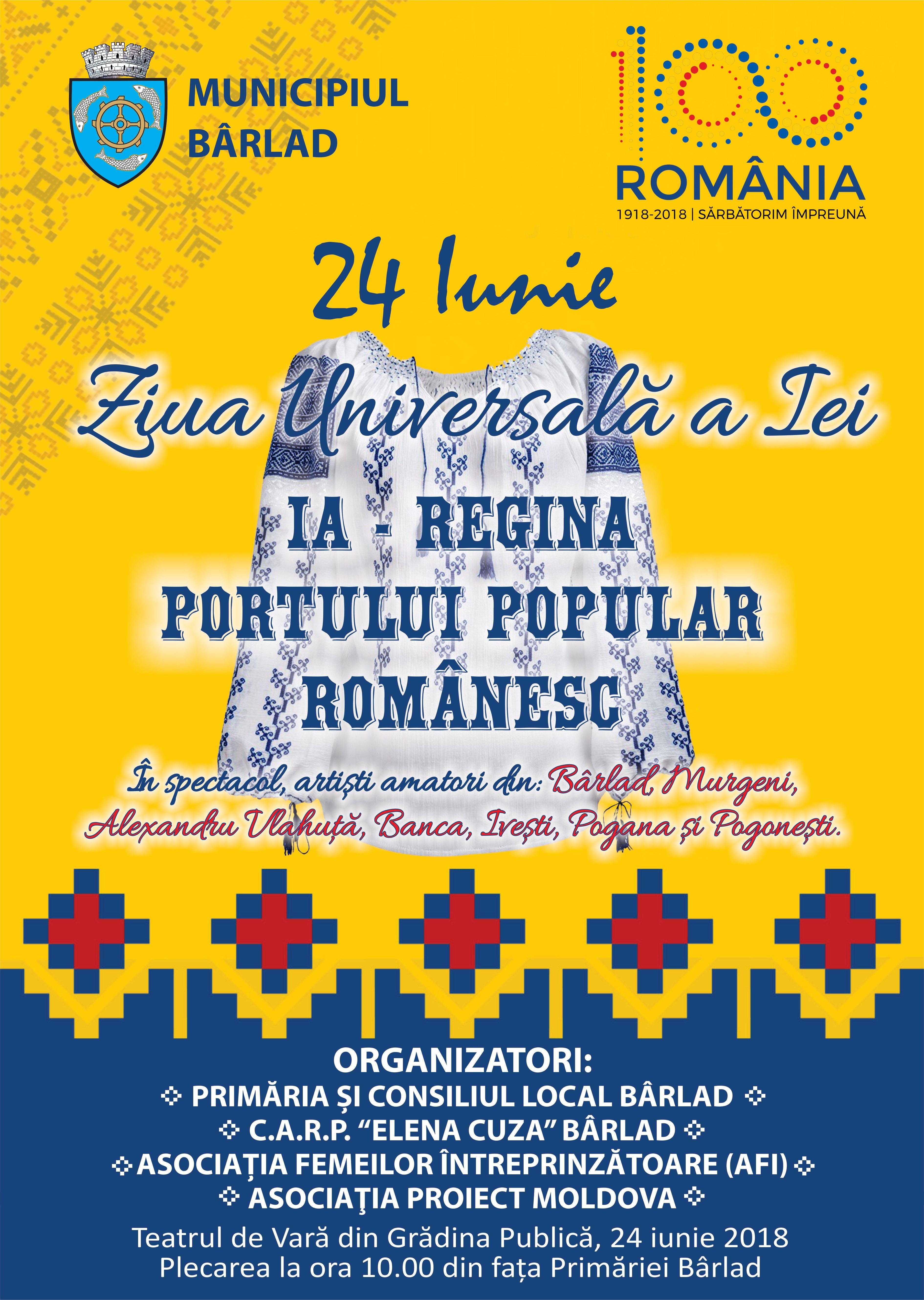 Ziua Internationalã a Iei sãrbãtoritã la Bârlad la Teatrul de Varã!