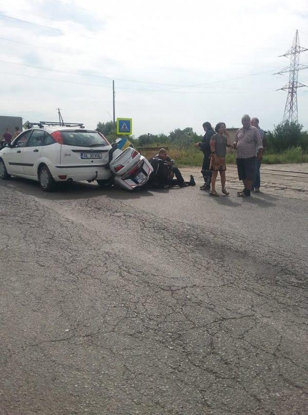 Accident cu victime spre vama Giurgiulești. Un motociclist ucrainean a ajuns la spital