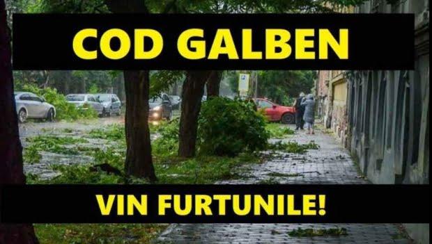 COD GALBEN şi PORTOCALIU DE FURTUNI în mai multe judeţe. Anunţ de ultimă oră de la ANM UPDATE: Alertă de inundaţii