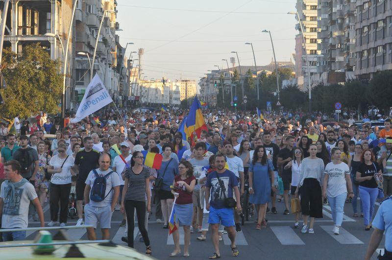 Proteste în centrul Bacăului