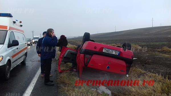 UPDATE: Accident cu 3 victime pe DE 581, langa Pensiunea MIRA! | FOTO VIDEO