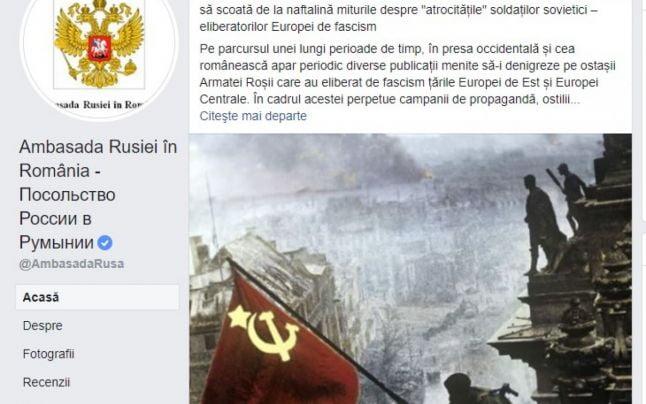 Ambasada Rusiei în România neagă crimele comunismului, reabilitându-l pe Stalin