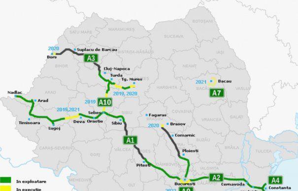 Autostrăzile din România. Harta completă a proiectelor, lucrărilor și a celor existente
