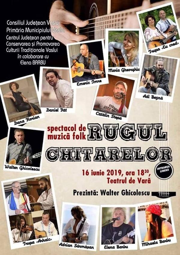 """""""Rugul chitarelor""""-spectacol de muzicã folk, în Teatrul de Varã"""