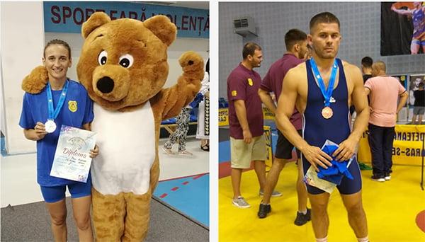 Lascãr Rotaru si Andreea Pãuc, medalii de bronz la Nationalele de lupte