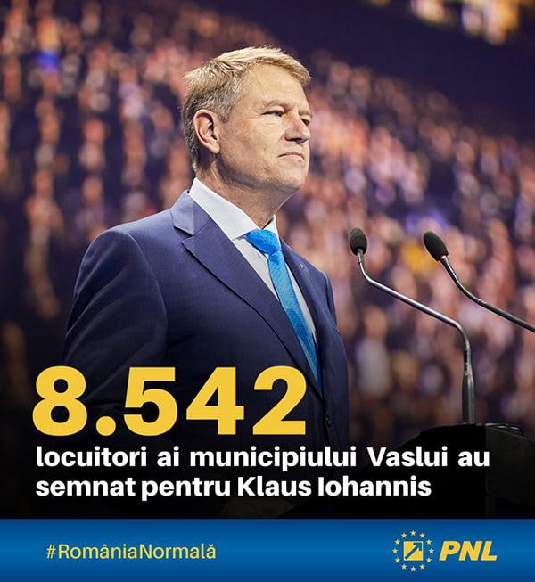 Municipiul Vaslui, alãturi de Klaus Iohannis!