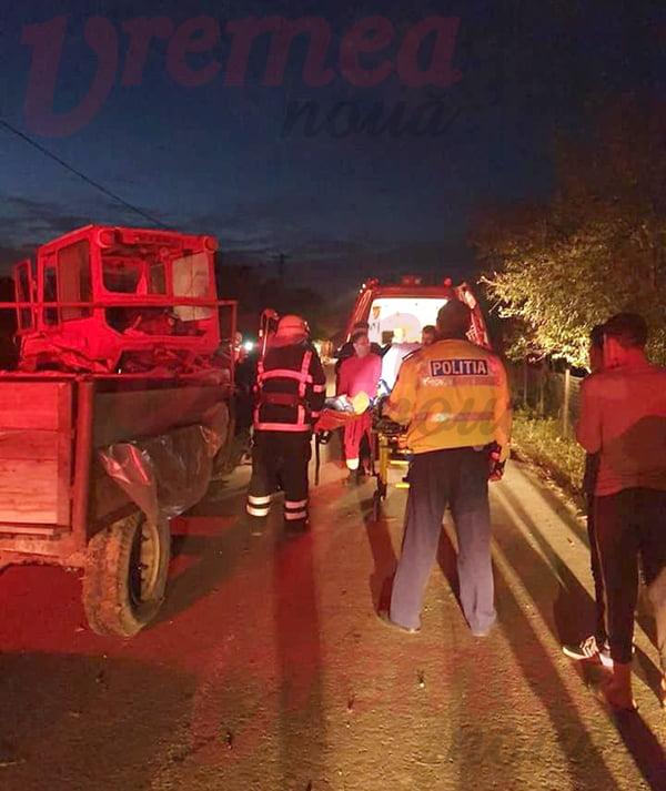 Copil strivit de tractor la Negrești, în stare foarte gravă!