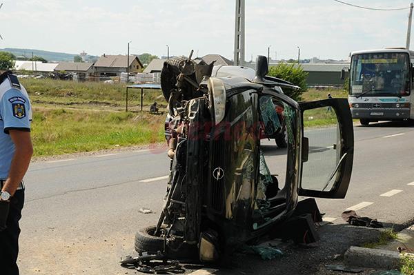 Accident la Muntenii de Jos după ce un șofer a adormit la volan (FOTO/VIDEO)