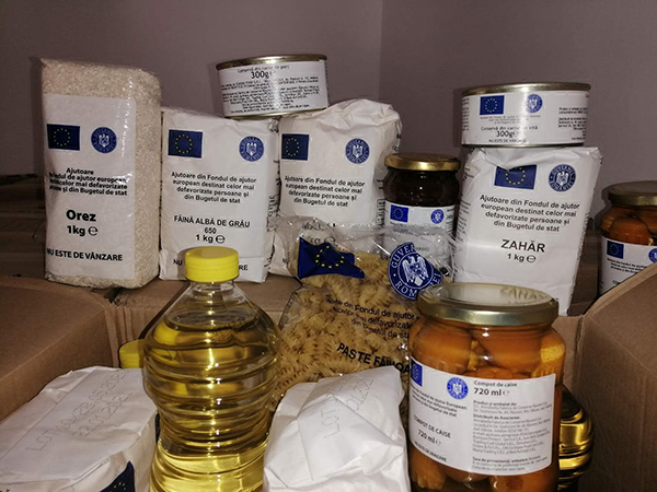 Începe distributia ajutoarelor alimentare de la UE!