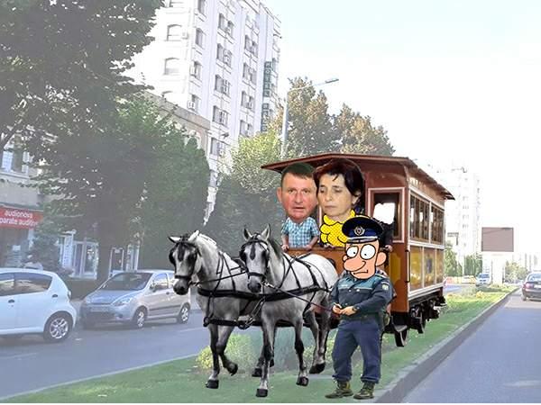 Vasluiul profund ecologic: tramvaie trase de cai în loc de troleibuze invizibile | PAMFLET