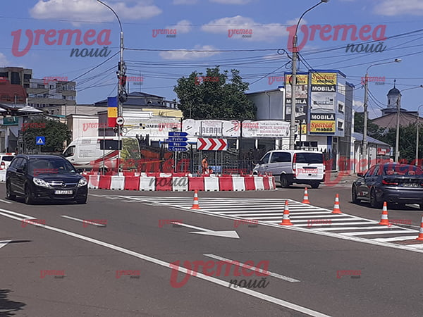 Noul sens giratoriu din Bârlad este functional! (FOTO)