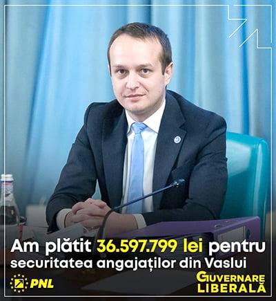 """Tudor Polak: """"1.419 angajatori din Vaslui au primit sprijin din partea Guvernului României"""""""